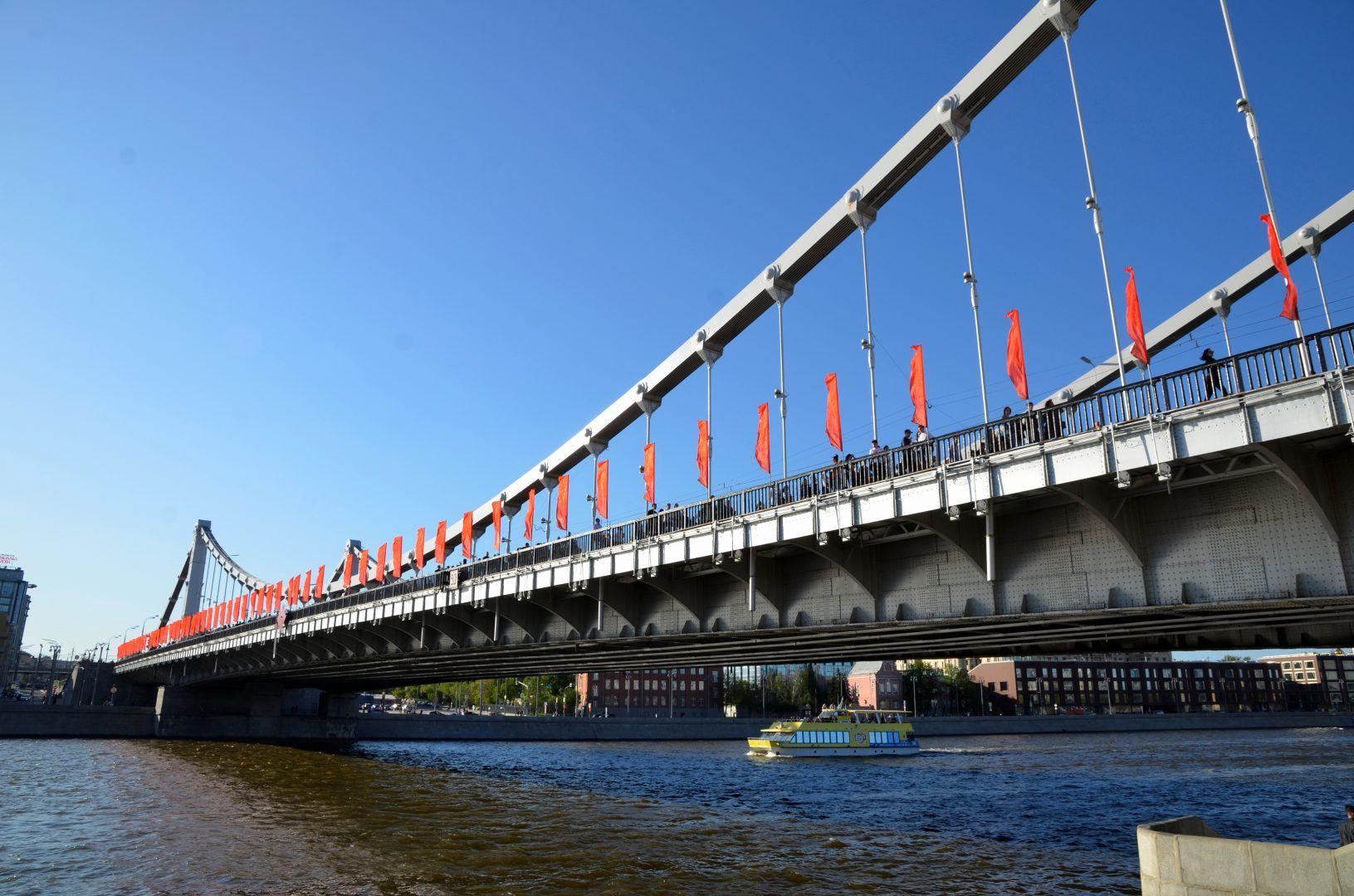 Набережные Москвы украсят флагами по случаю 75-летия Победы. Фото: Анна Быкова