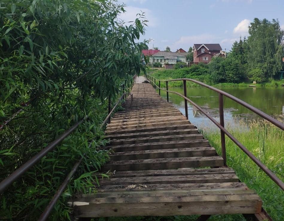 Мост стоит над рекой Лубянка. Фото: пресс-служба администрации поселения Щаповское