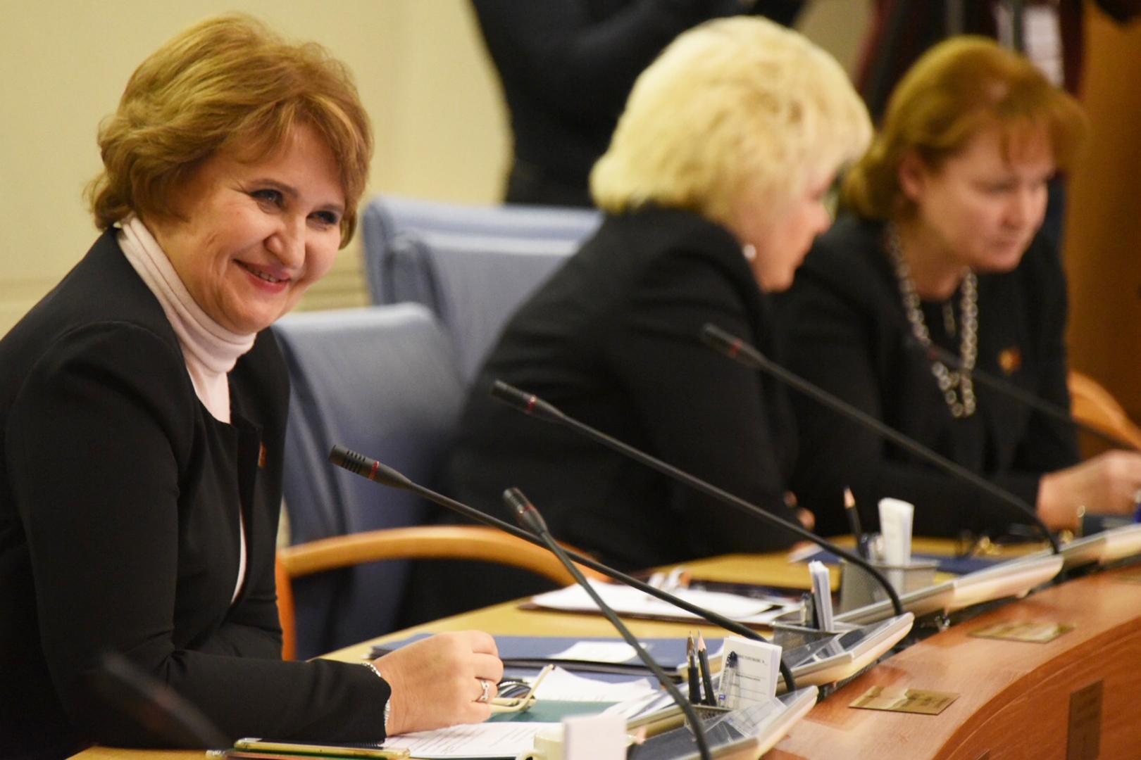 На фото председатель комиссии Мосгордумы по экономической и социальной политике Людмила Гусева