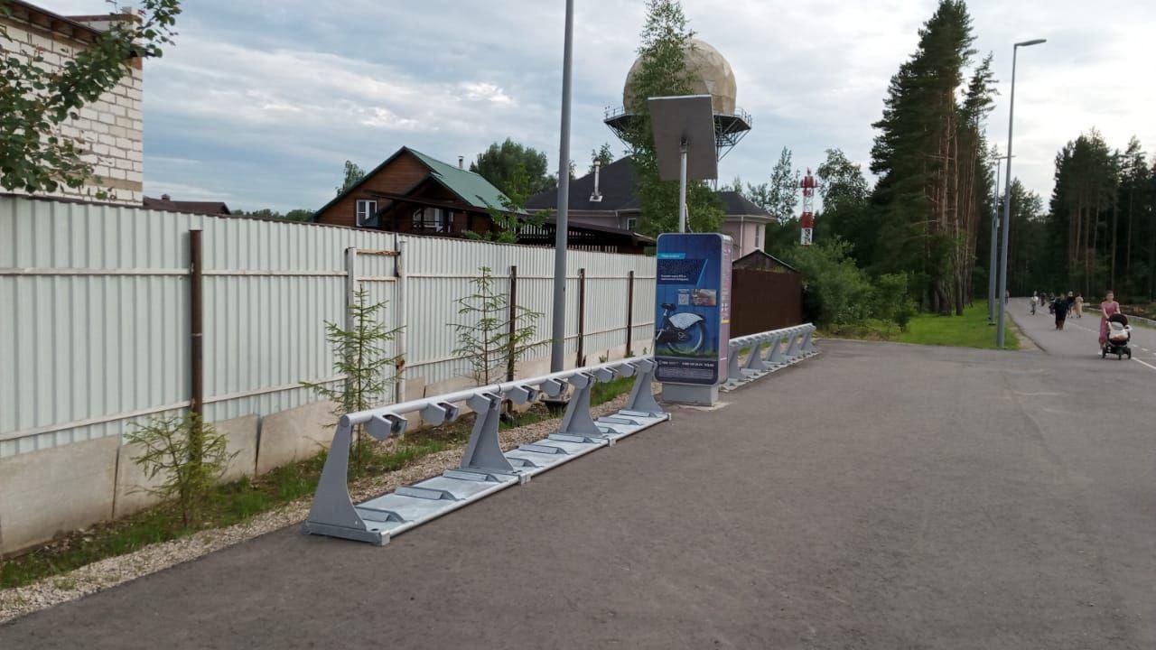 Мест на велопарковке у метро «Филатов Луг» стало больше