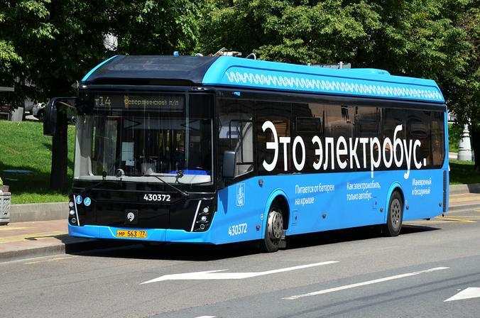Около 600 электробусов будут курсировать по Москве к концу года - мэр. Фото: архив