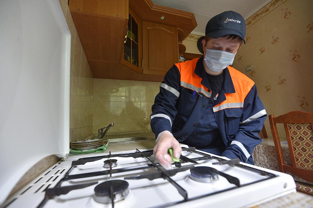 Московские газовщики проверили оборудование в 221 тысячи квартир за месяц
