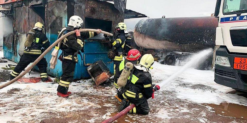 Московские пожарные получили государственные награды