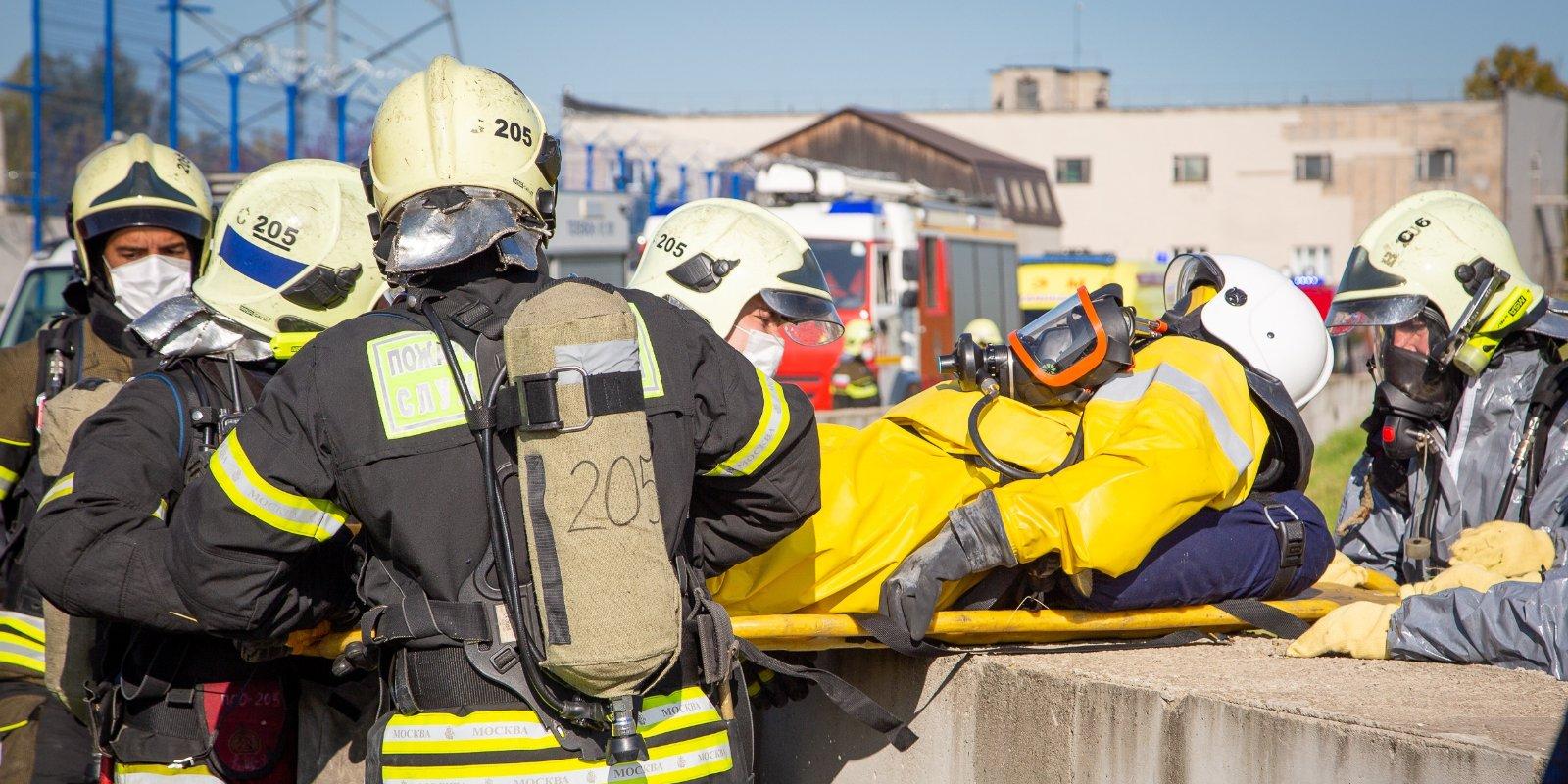 Столичные пожарные и спасатели ликвидировали условное чрезвычайное происшествие на территории ТЭЦ-25