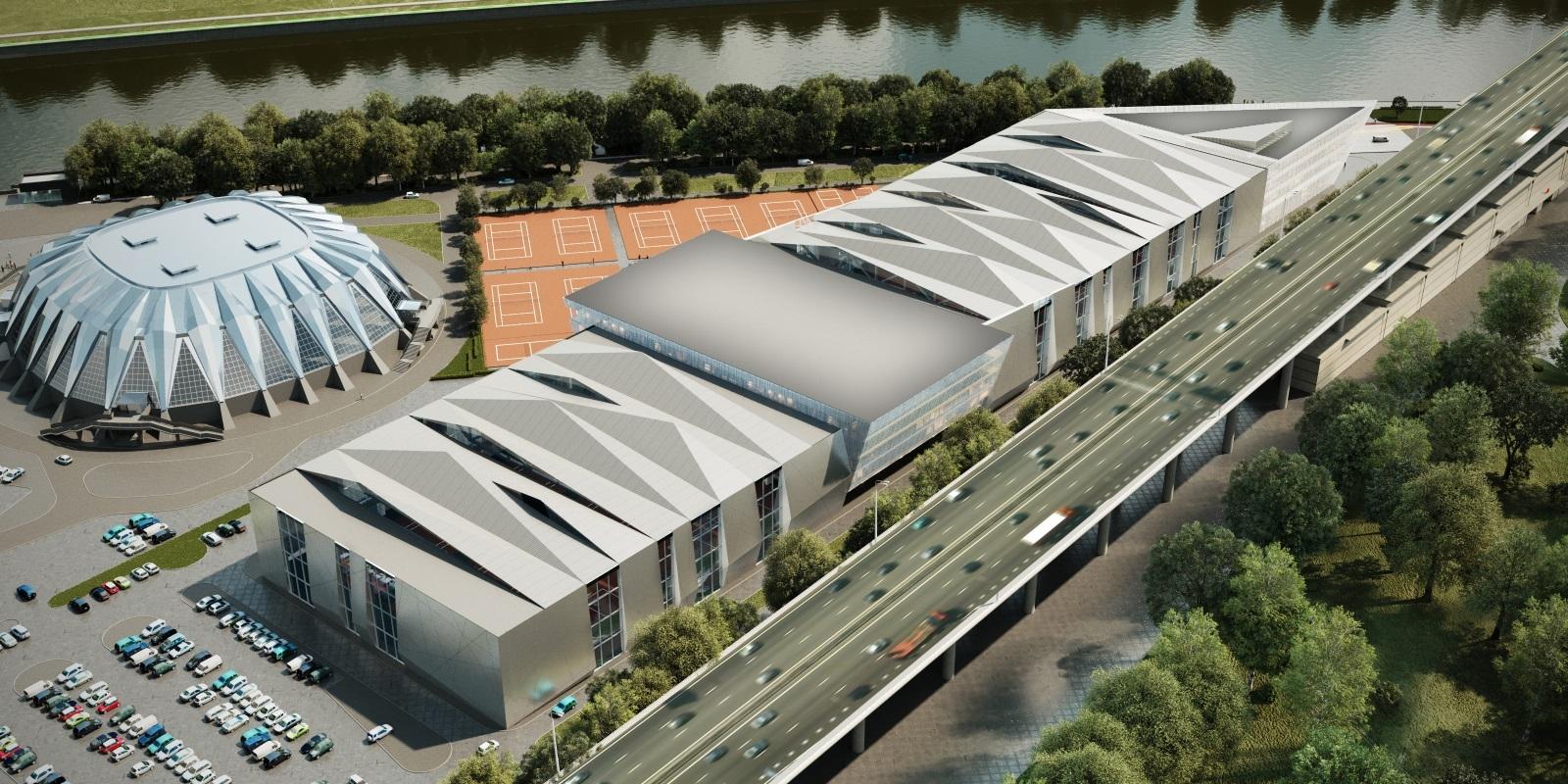 Центр тенниса в «Лужниках» пообещали достроить в течение года