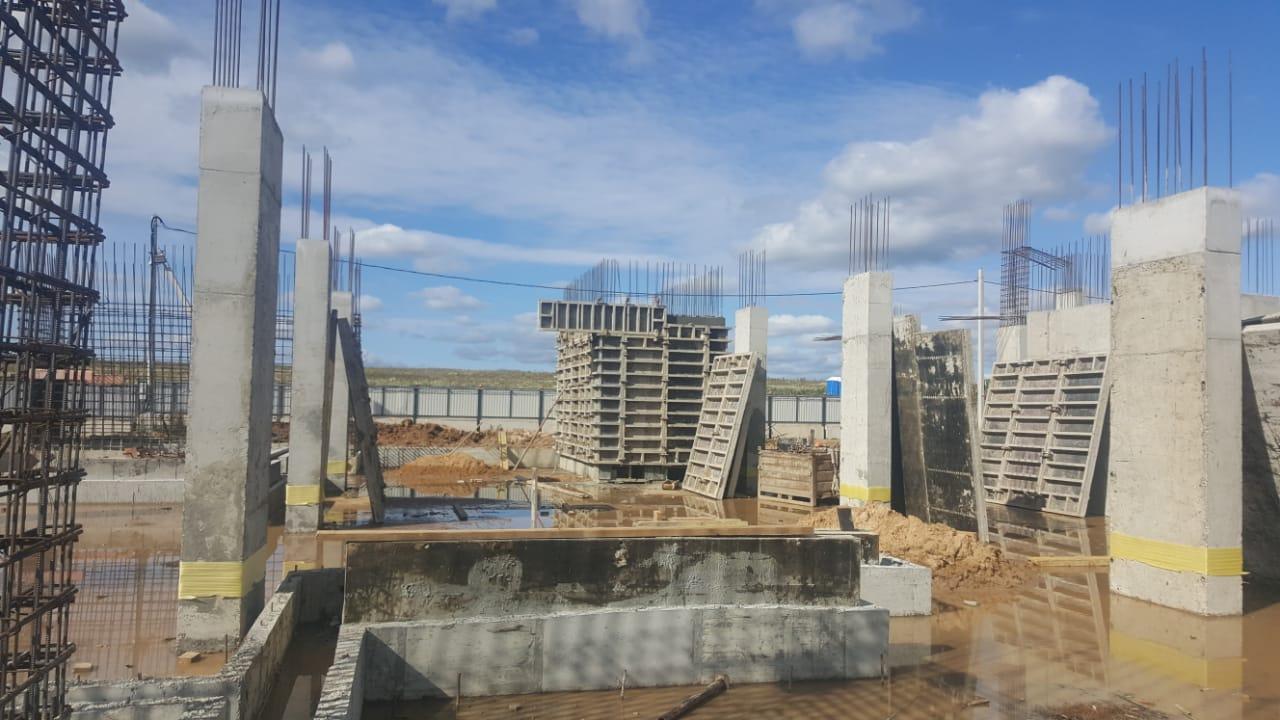 Новый этап строительства пожарного депо начали в Кленовском