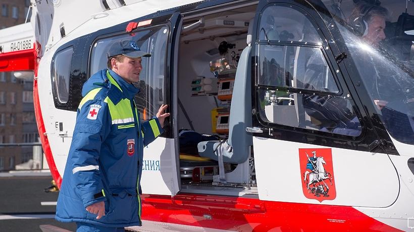 Пожарные и летчики ДепартаментаГОЧСиПБоказали помощь