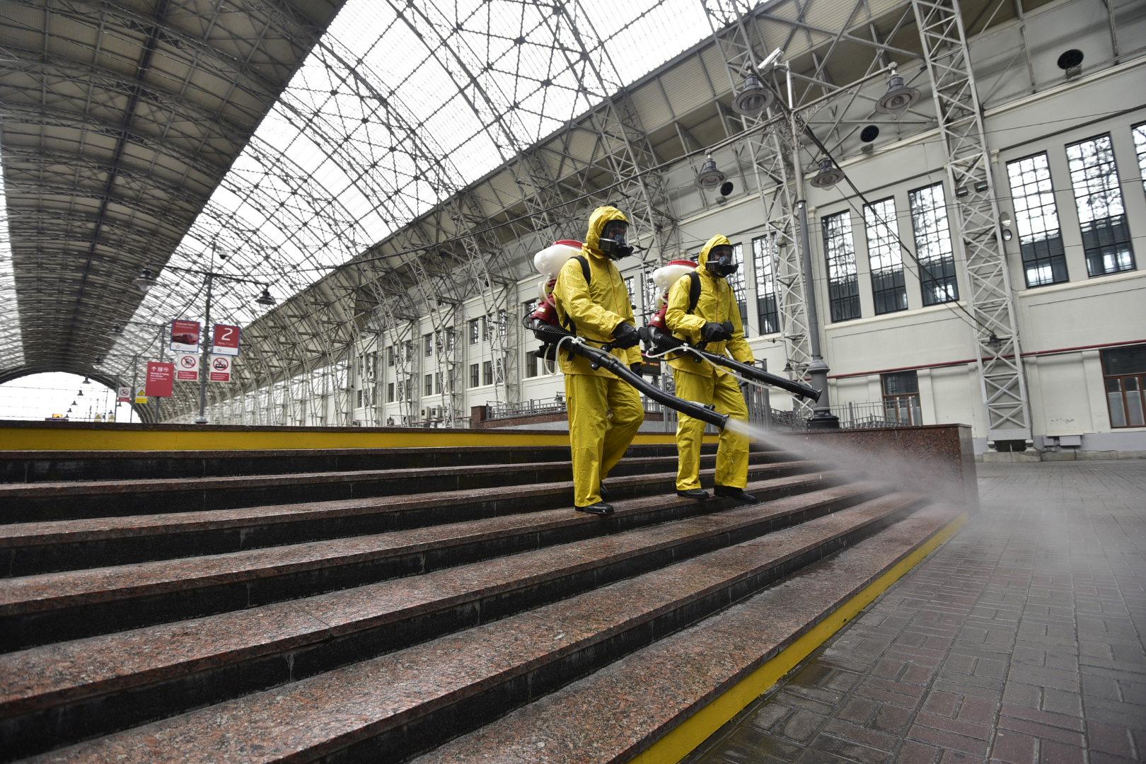 Общественные пространства в Москве снова будут дезинфицировать