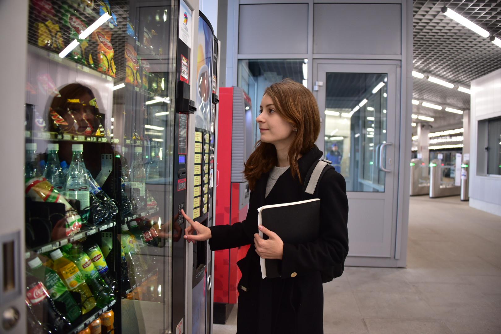 Вендинговые аппараты с едой и масками установили на 13 станциях МЦК