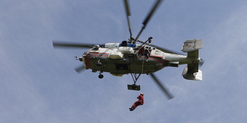 В Московском авиационном центре провели тренировку на пожарных вертолётах