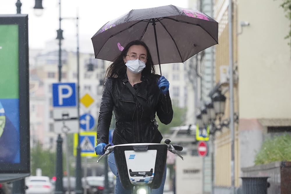 Станции велопроката в Москве закрыли из-за погоды