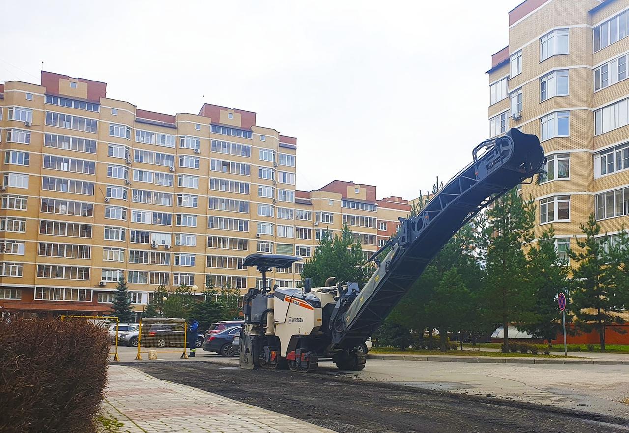 Благоустройство дорог стартовало в Рязановском