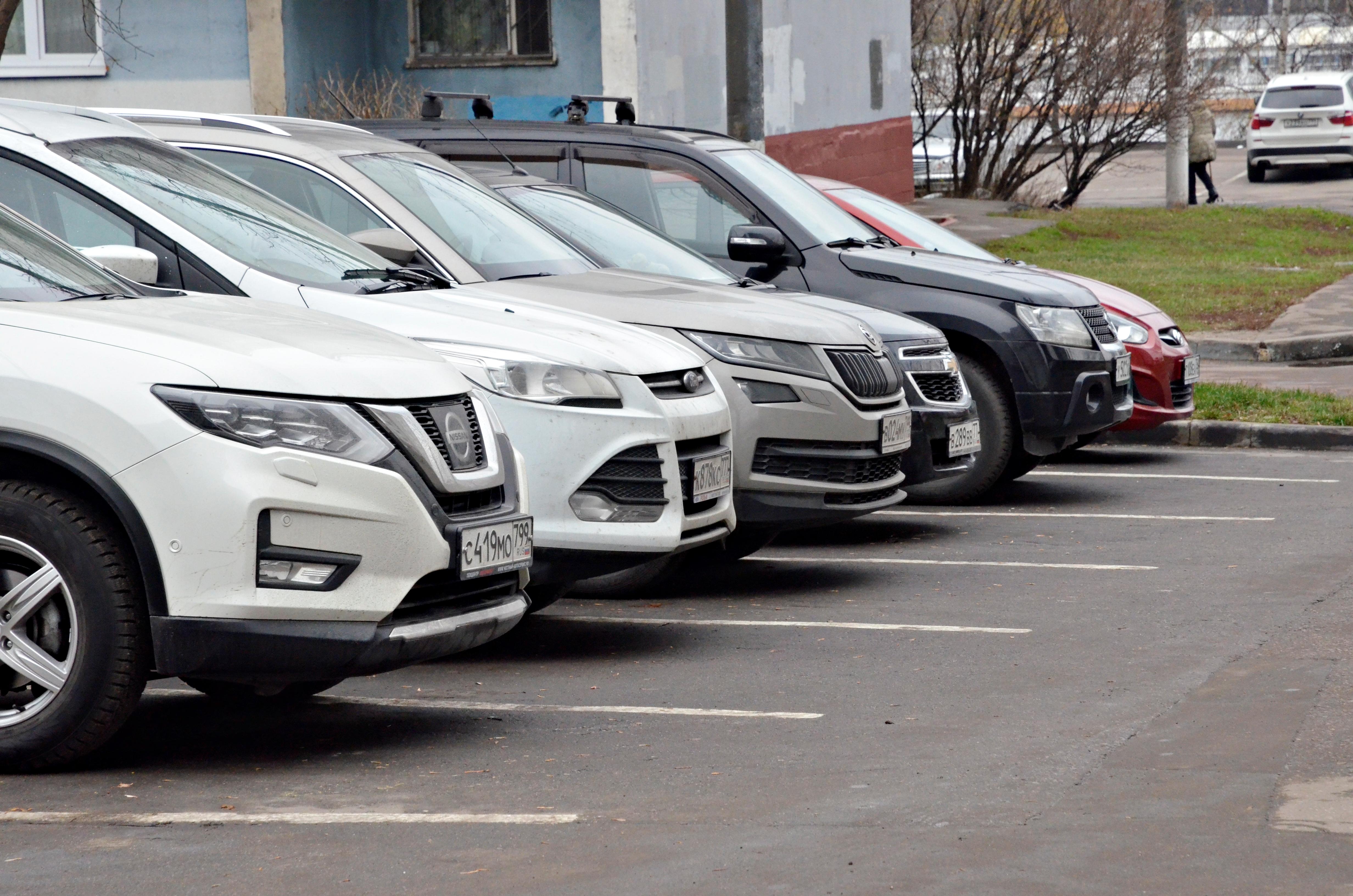 Московские парковки станут бесплатными в День народного единства