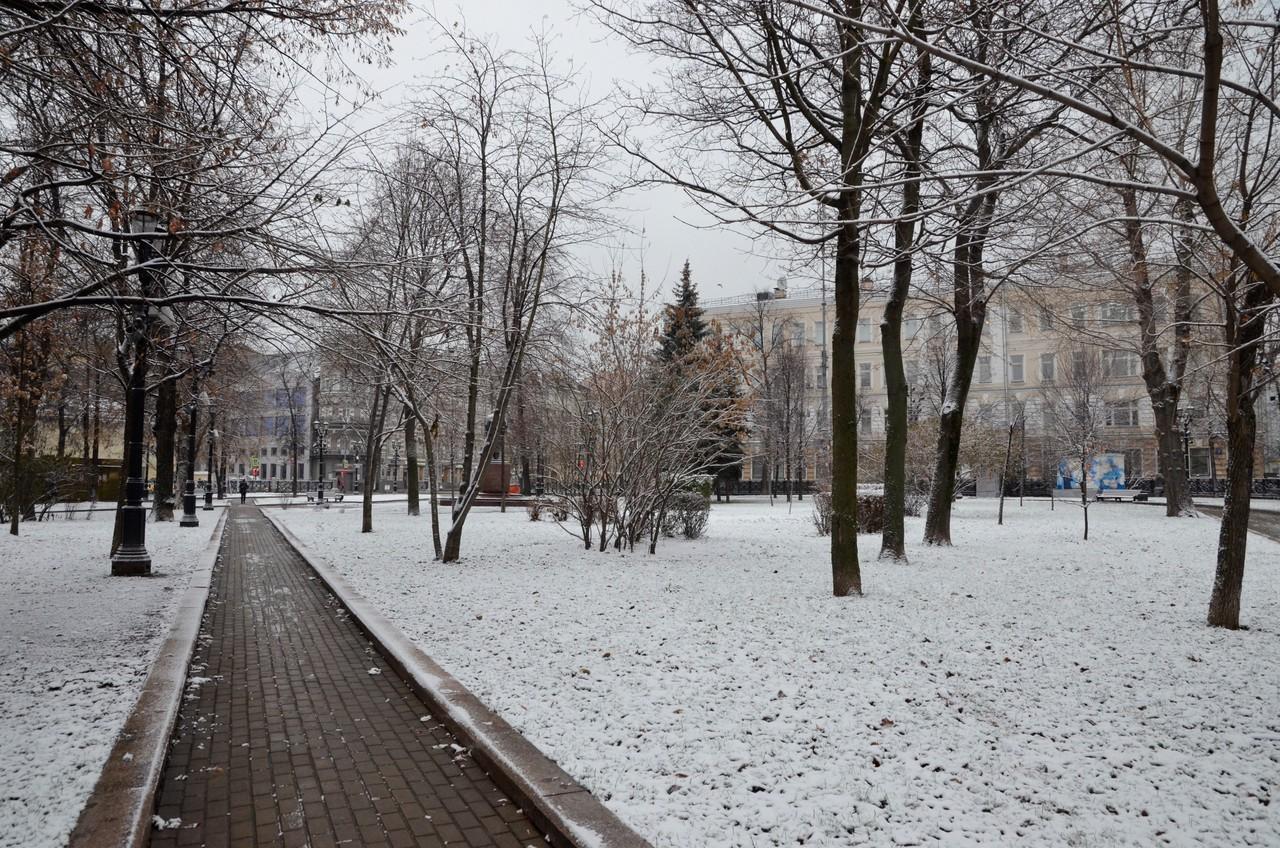 Жителям Москвы пообещали небольшой снег в воскресенье
