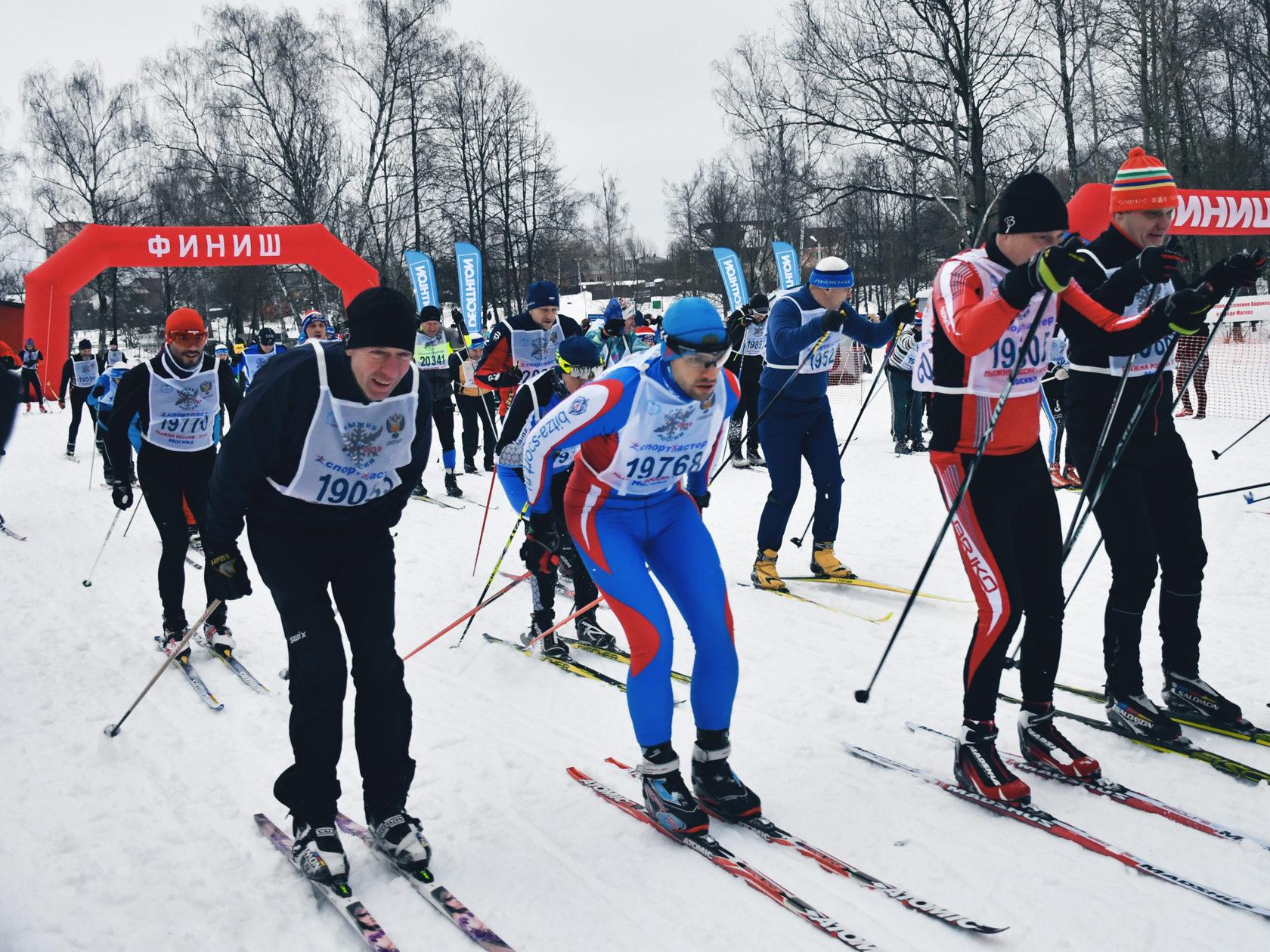 Массовый заезд по лыжным гонкам прошел в Новой Москве
