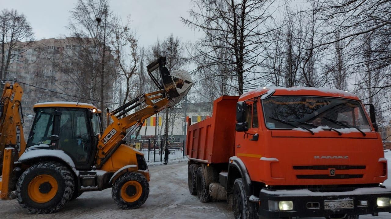 Уборку снега провели в городском округе Щербинка