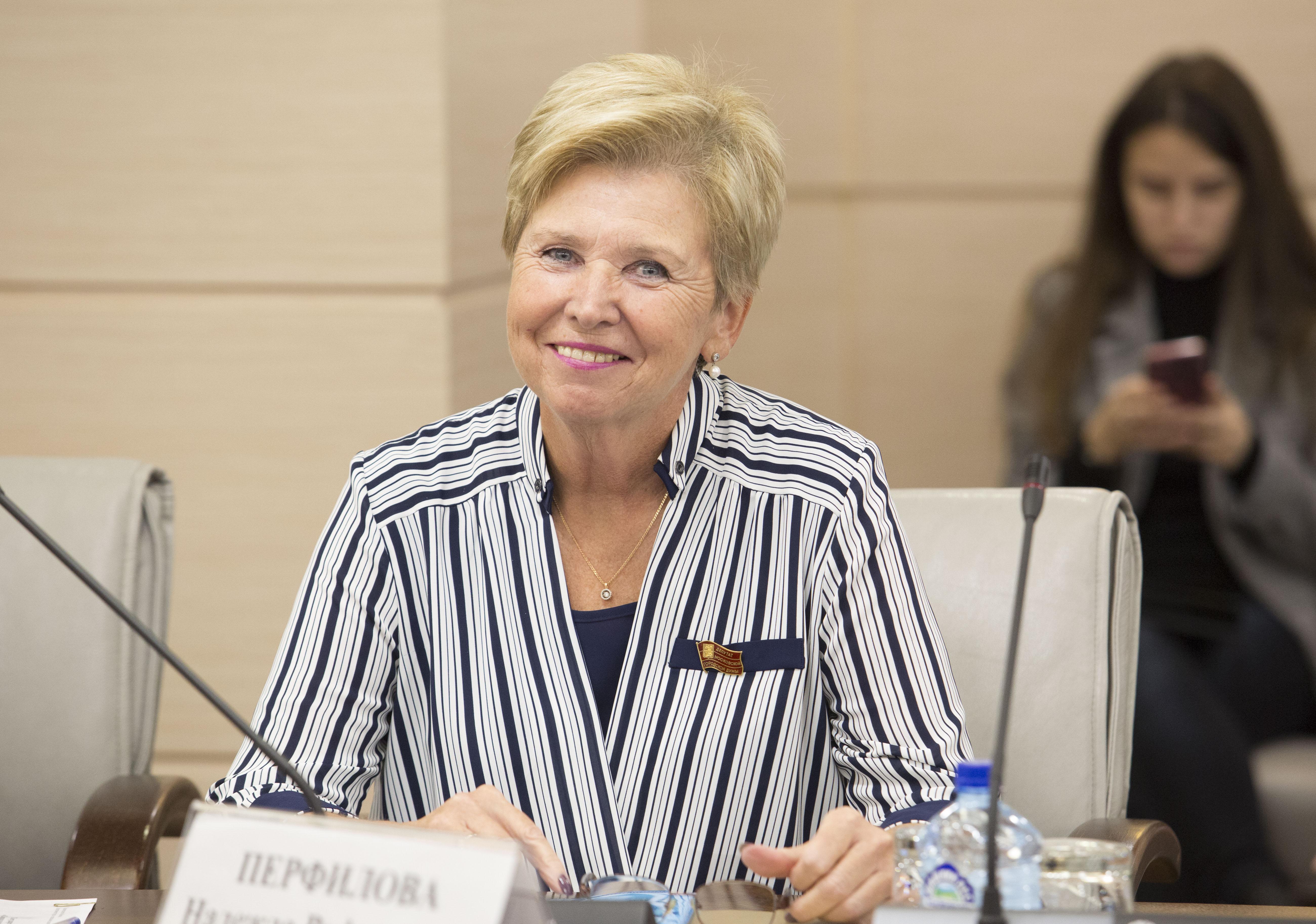 На фото депутат МГД Надежда Перфилова