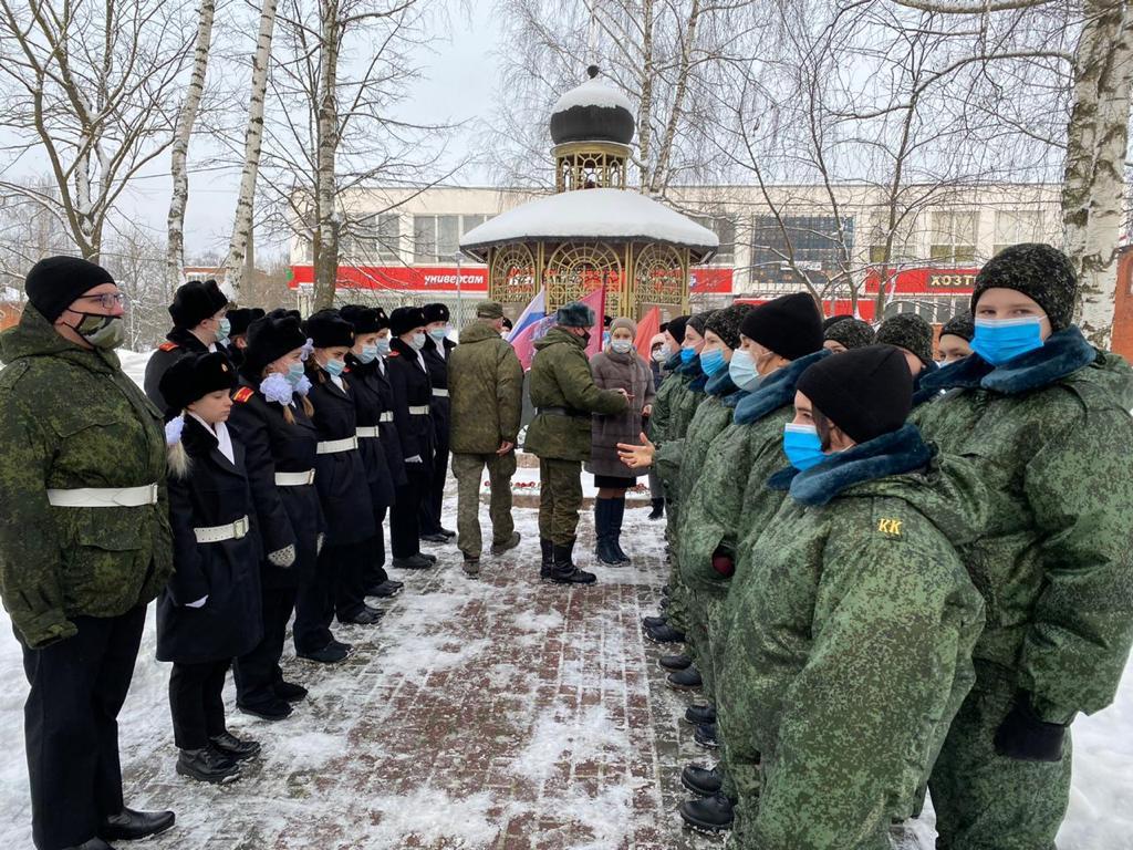 Посвящение в юнармейцы прошло в Кленовском