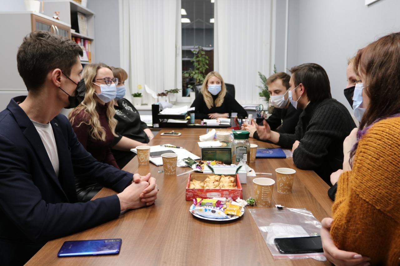 Молодые парламентарии из поселения Воскресенское провели обсуждение плана на 2021 год. Фото: предоставили активисты Молодежной палаты