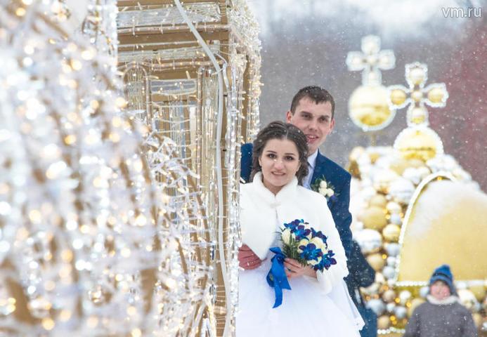 Столичные ЗАГСы привели статистику бракосочетаний в новогодние праздники