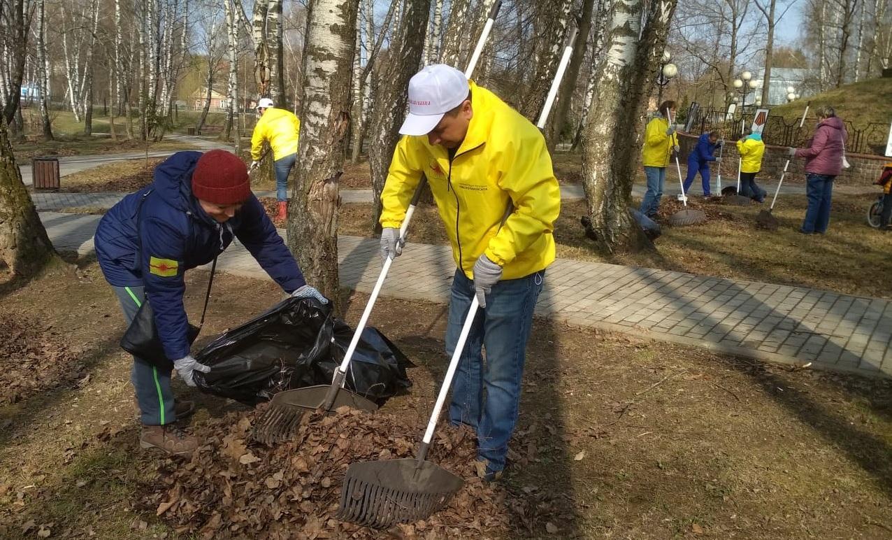 Подготовка к весеннему месячнику благоустройства началась в Краснопахорском. Фото: предоставили сотрудники администрации