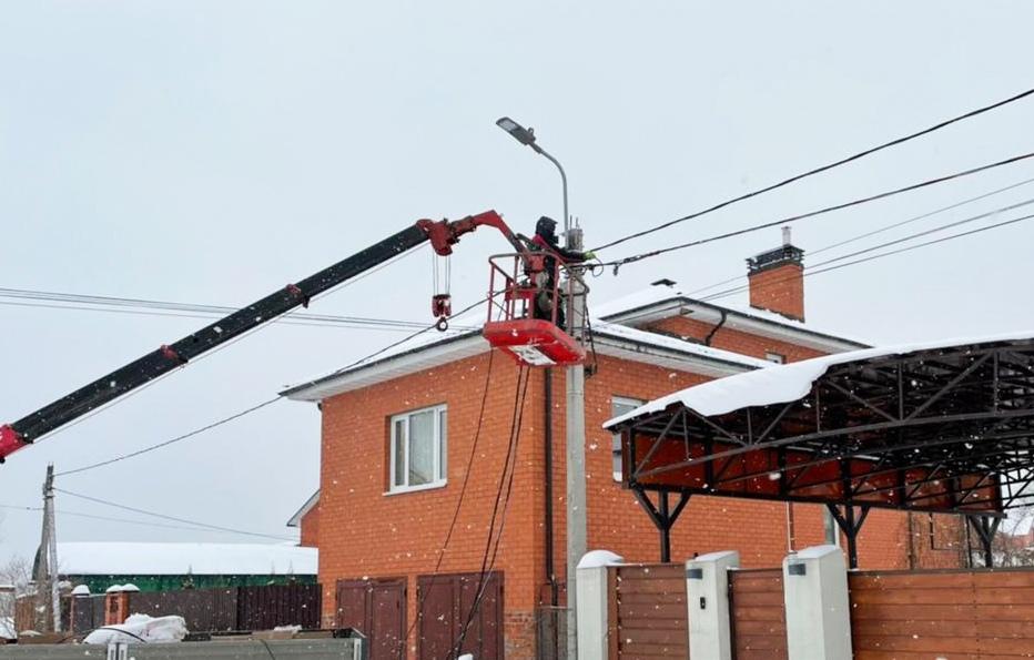 Новые светильники установили в населенном пункте в поселении Рязановское. Фото предоставили сотрудники администрации поселения
