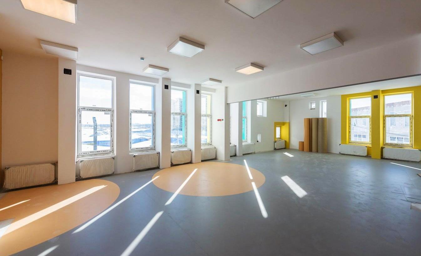 Строительство детского сада в Рязановском вышло на завершающий этап