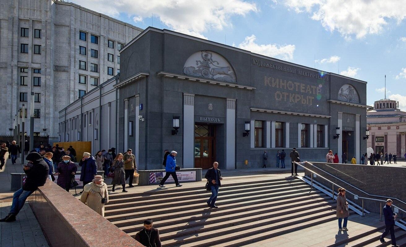 Москвичам рассказали, как шла реставрация кинотеатра «Художественный». Фото: сайт мэра Москвы