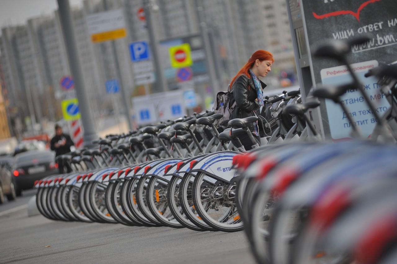Велопрокат заработал в Москве