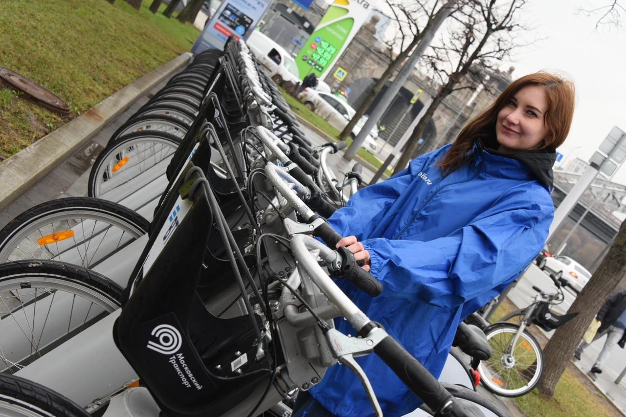 Москвичи воспользовались велопрокатом свыше полумиллиона раз за месяц
