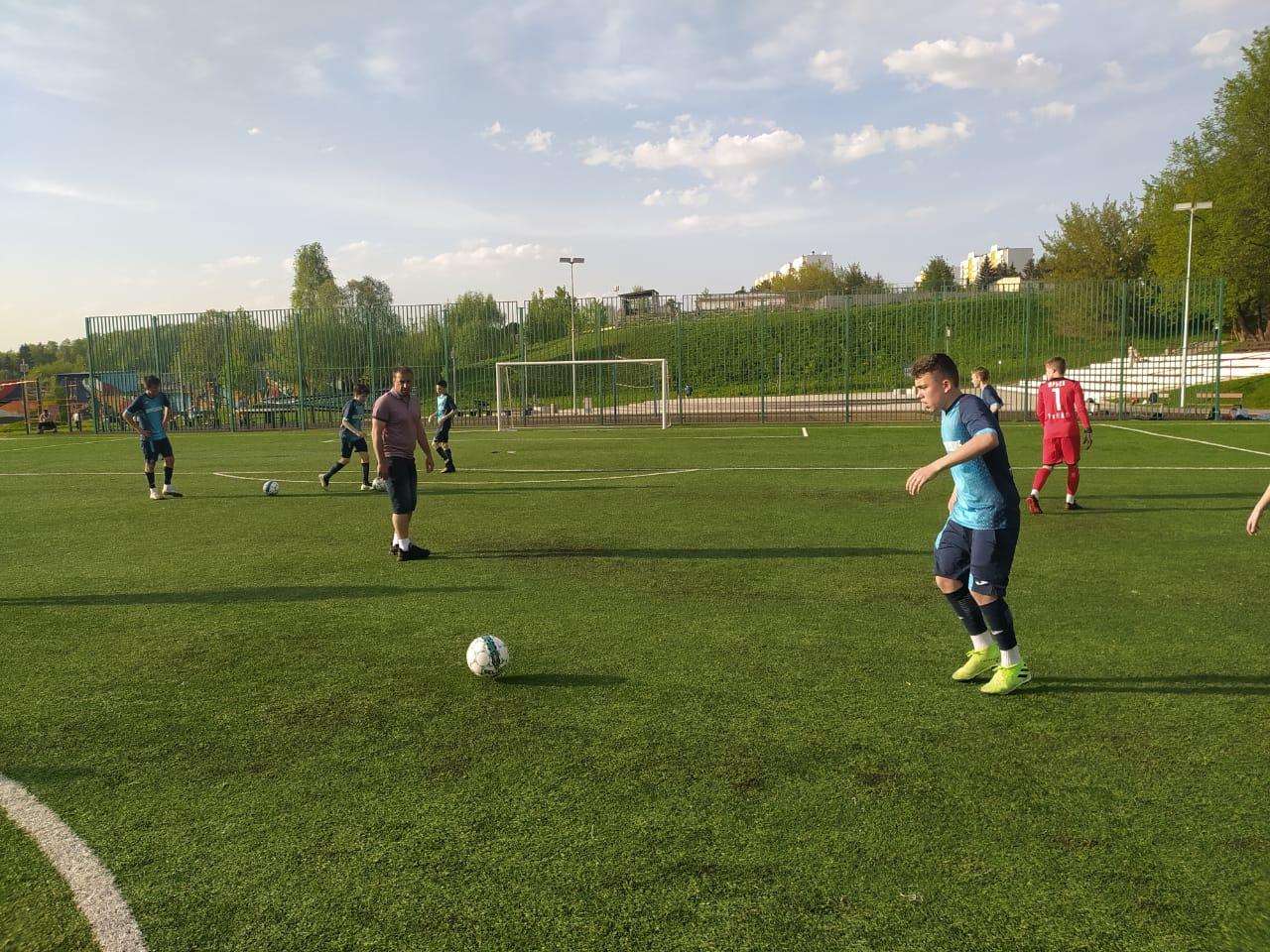 Футбольная команда Воскресенского одержала победу на очередном этапе соревнований «Кожаный мяч»