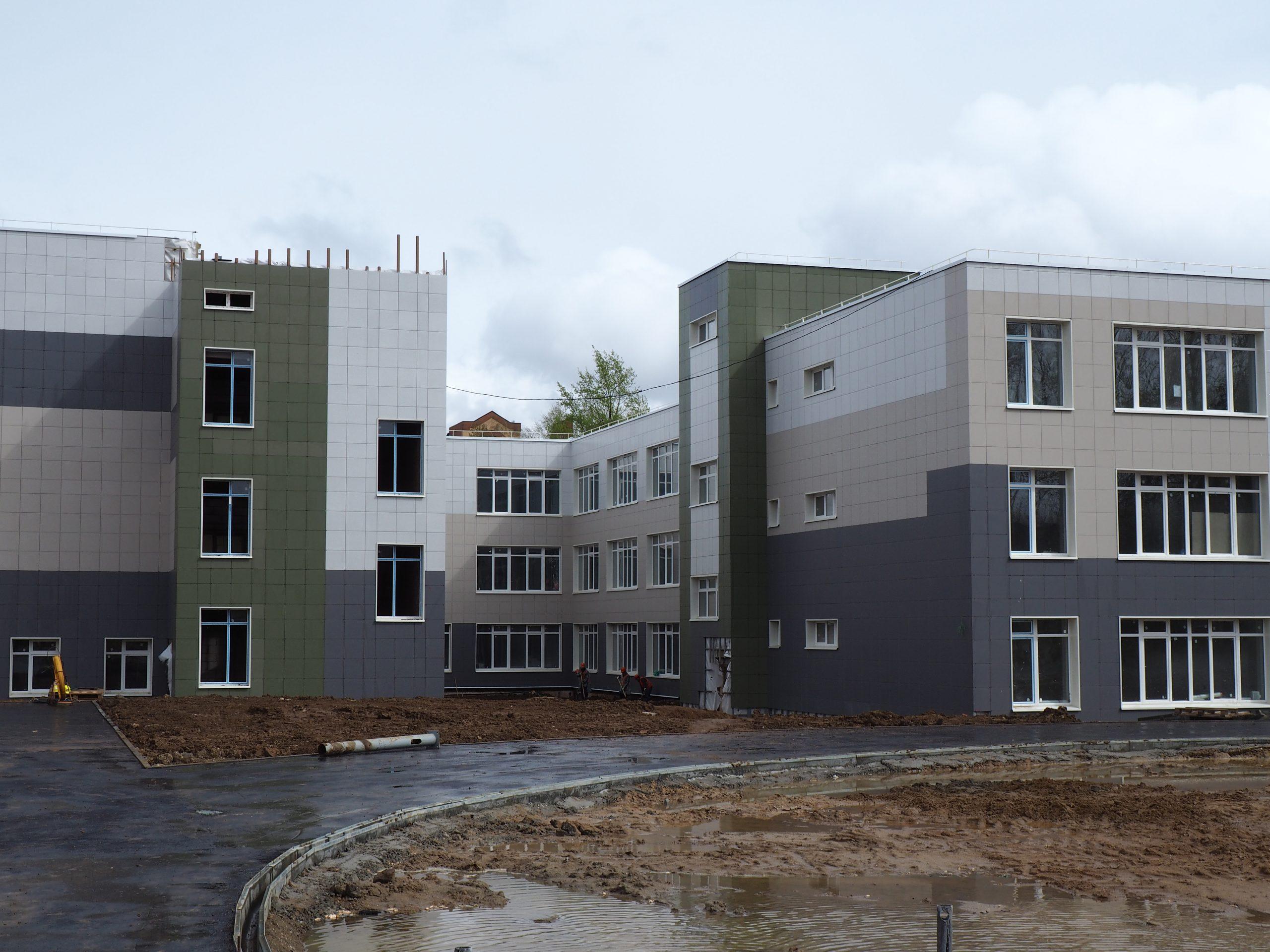 Строительство школьного корпуса вышло на финишную прямую