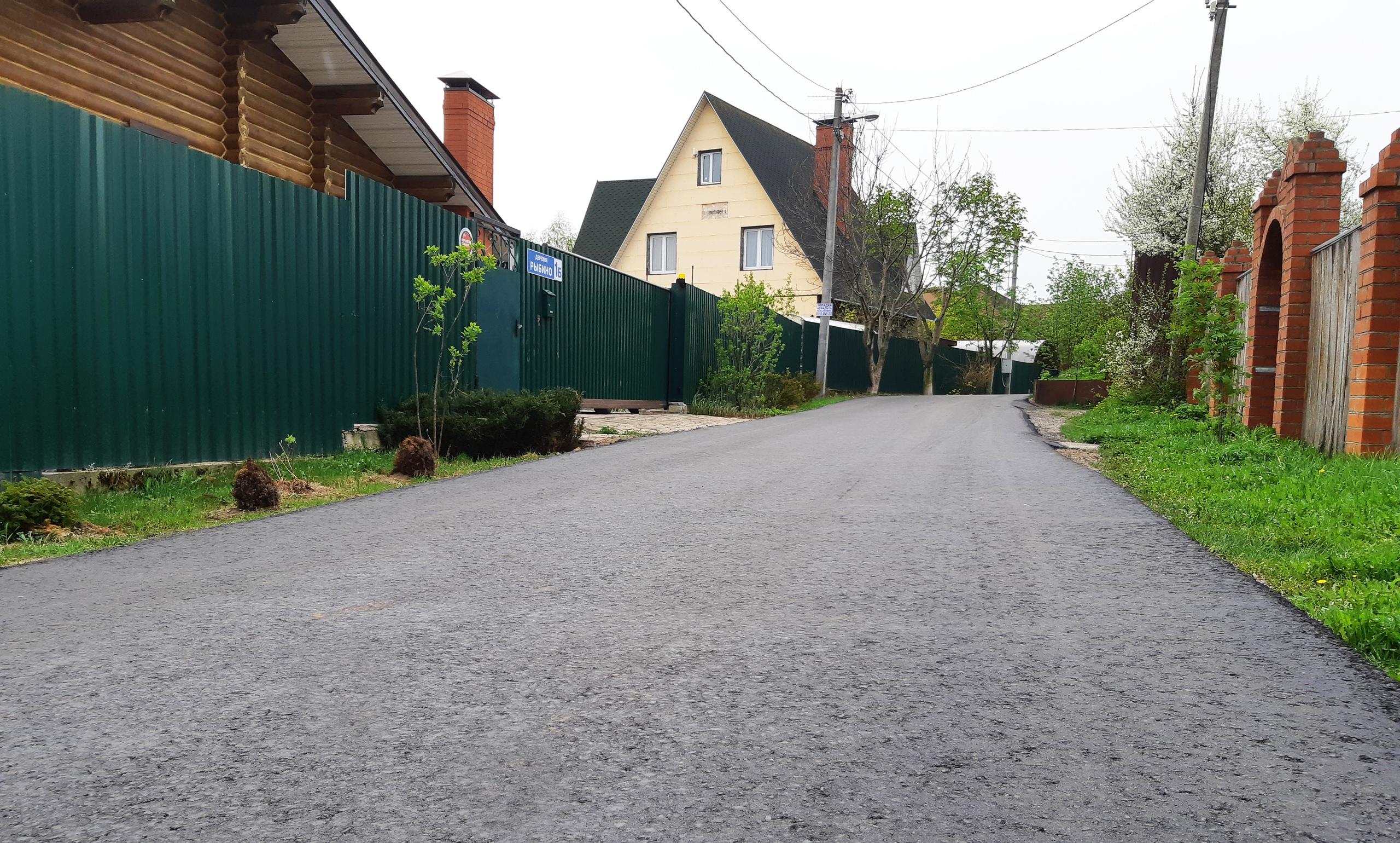 Специалисты завершили дорожные работы в Рязановском