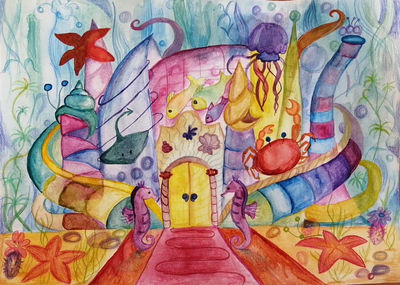 Ученики школы №1391 поселения Киевский заняли призовые места в городской АРТакиаде «Изображение и слово»