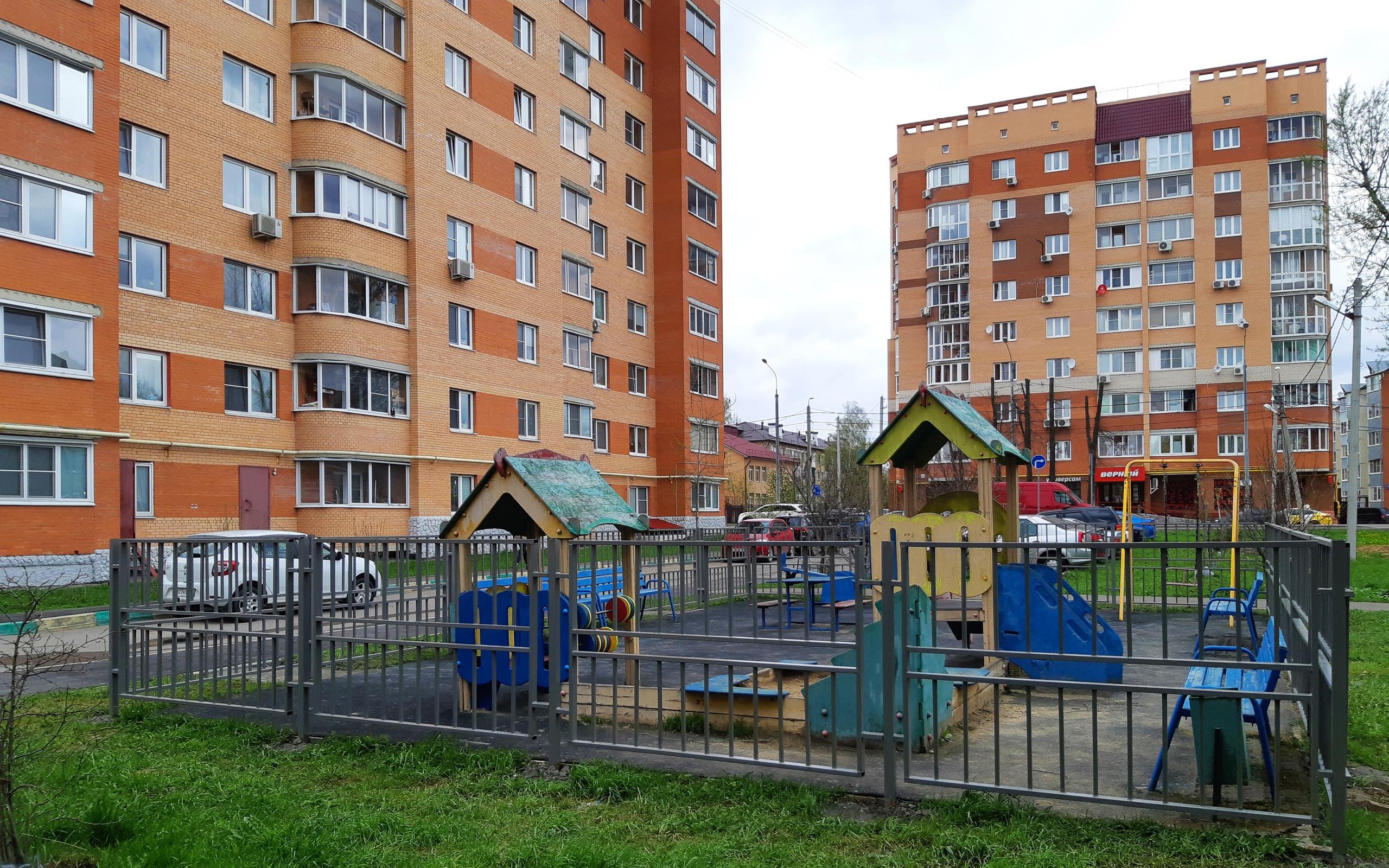 Ограждения установили на детских площадках в поселении Рязановское