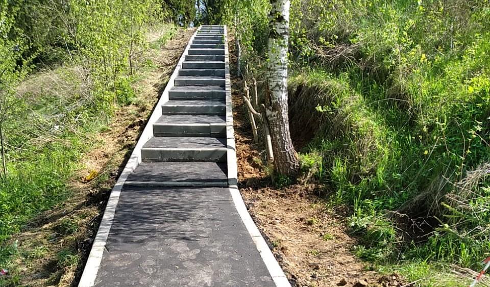 Работы по устройству нового тротуара завершили в поселении Щаповское