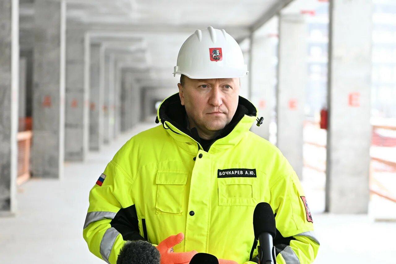 Андрей Бочкарев рассказал о ходе строительства станции «Улица Генерала Тюленева» Троицкой линии метро