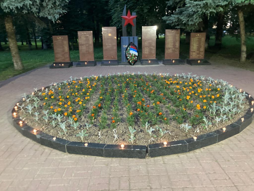 Акция «Свеча памяти» прошла в мемориальном комплексе в Щапово