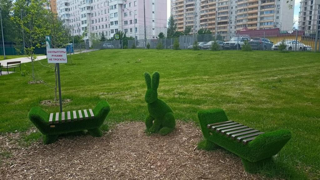 Специальные знаки установили на территории парка в Десеновском
