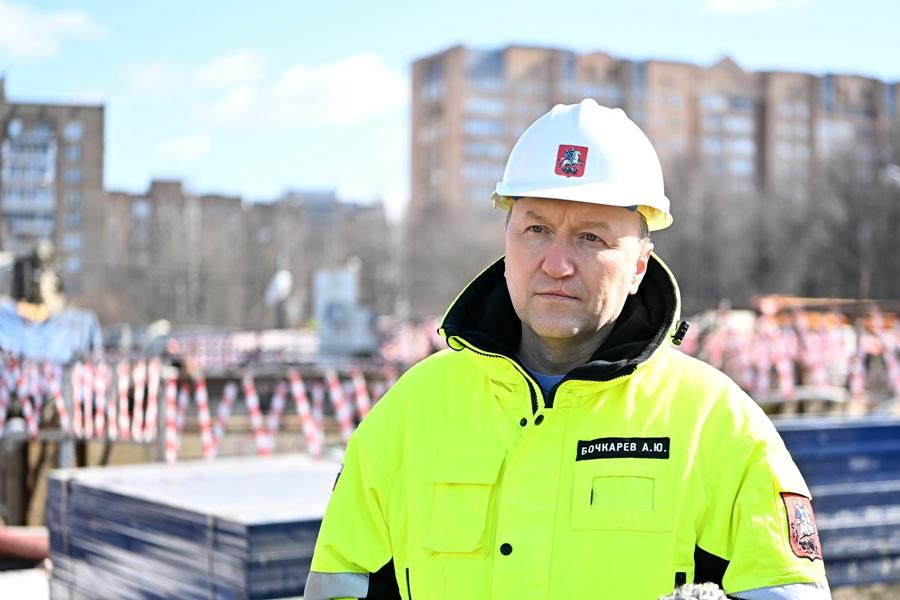Бочкарев рассказал о сооружении пересадки между станциями «Проспект Вернадского» БКЛ и радиальной лини метро