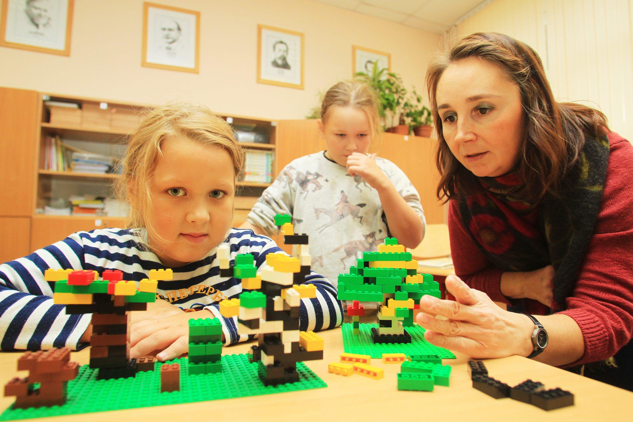 Занятие кружка «Учимся, играя с Лего» организовали сотрудники библиотеки №263 поселения Десеновское