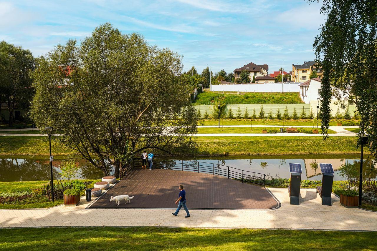 Специалисты закончили благоустройство общественного пространства в Воскресенском