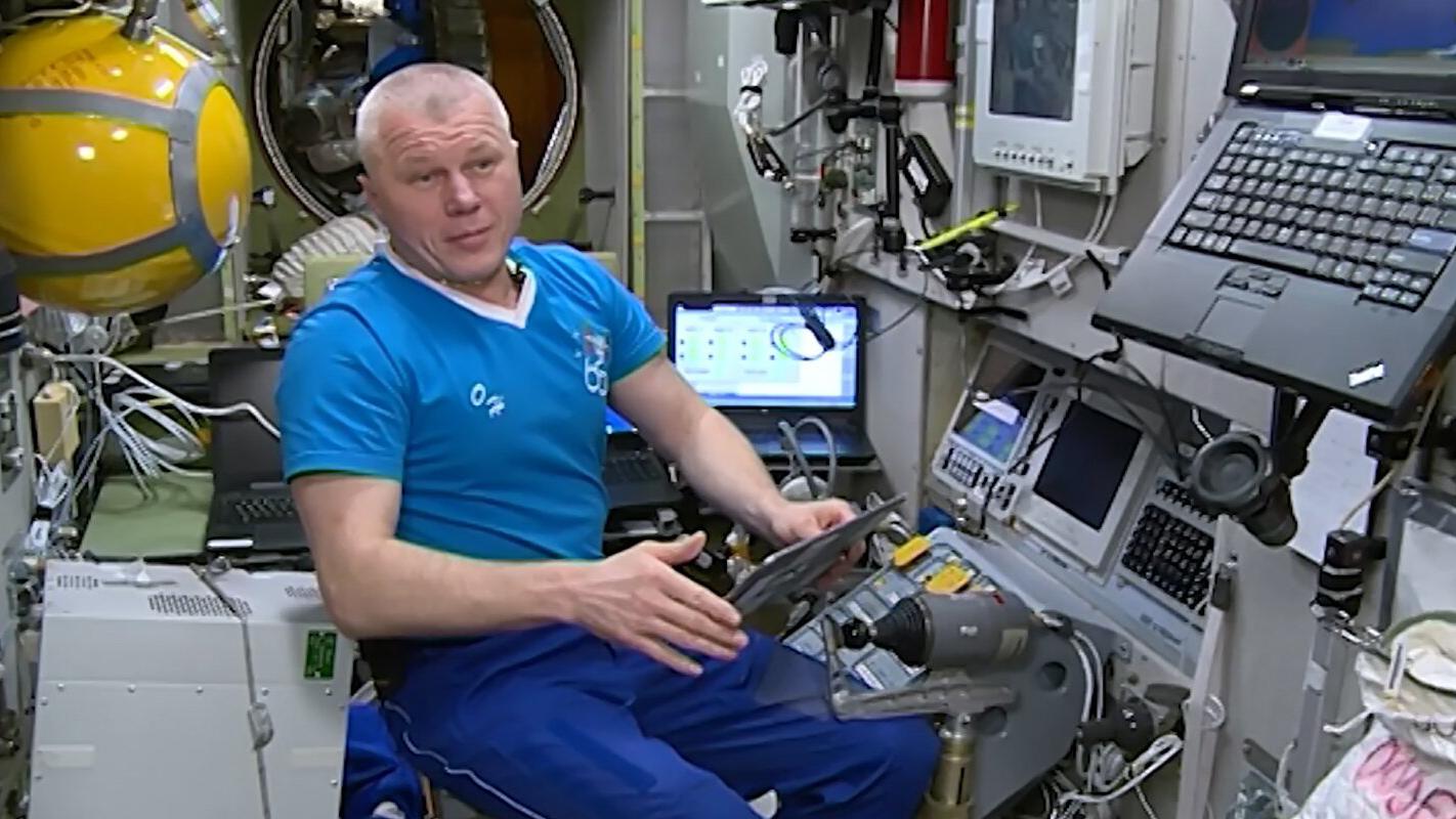 Космонавт Олег Новицкий принял участие в онлайн-голосовании на борту МКС