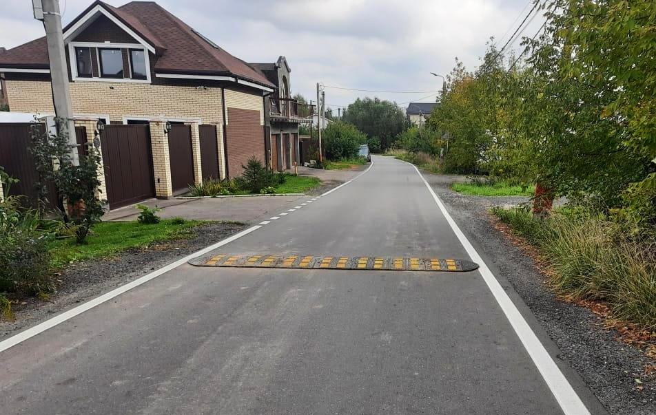Новые искусственные дорожные неровности установили в поселении Рязановское
