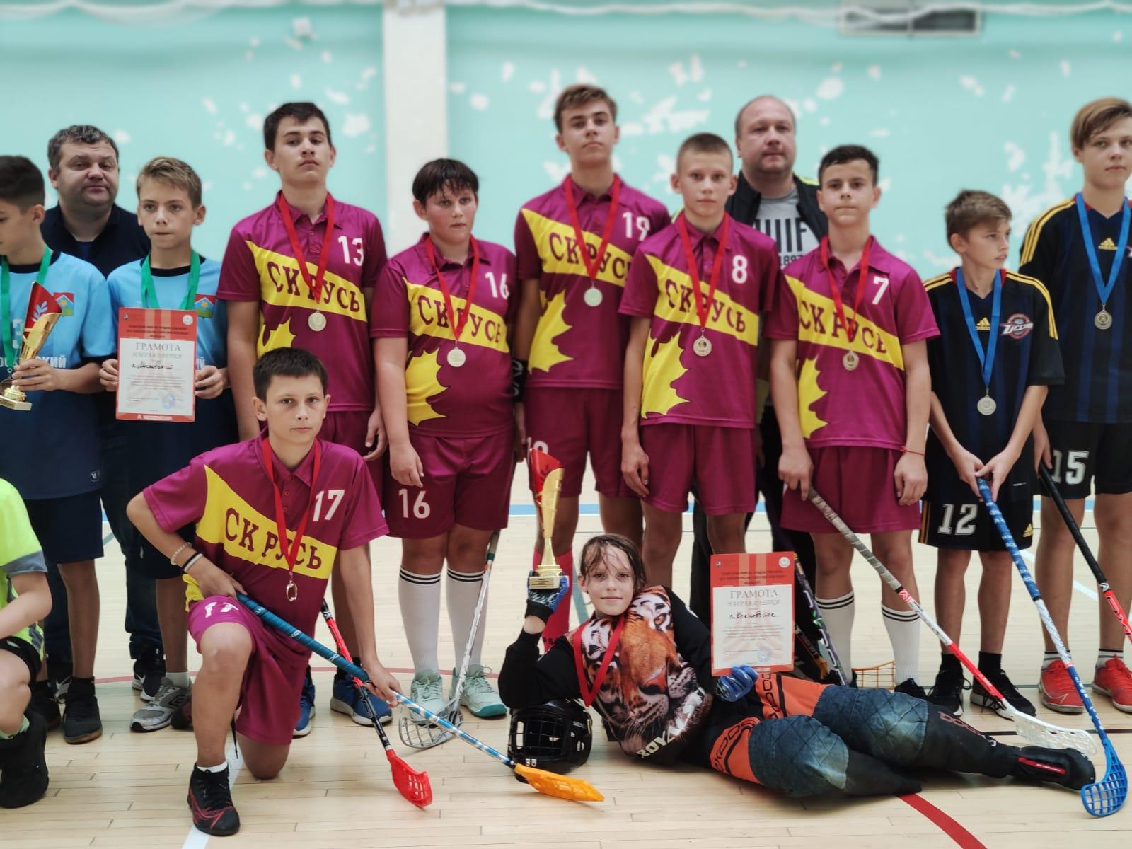 Спортсмены из Кленовского заняли первое место в отборочном межокружном турнире по флорболу